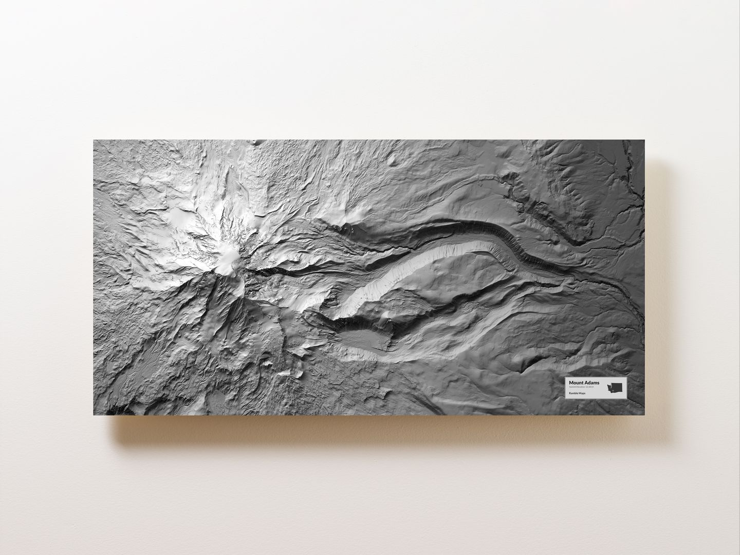 Mount Adams Wall Map