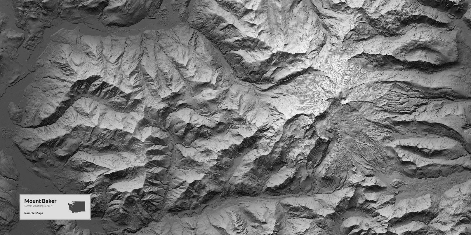 Map of Mount Baker