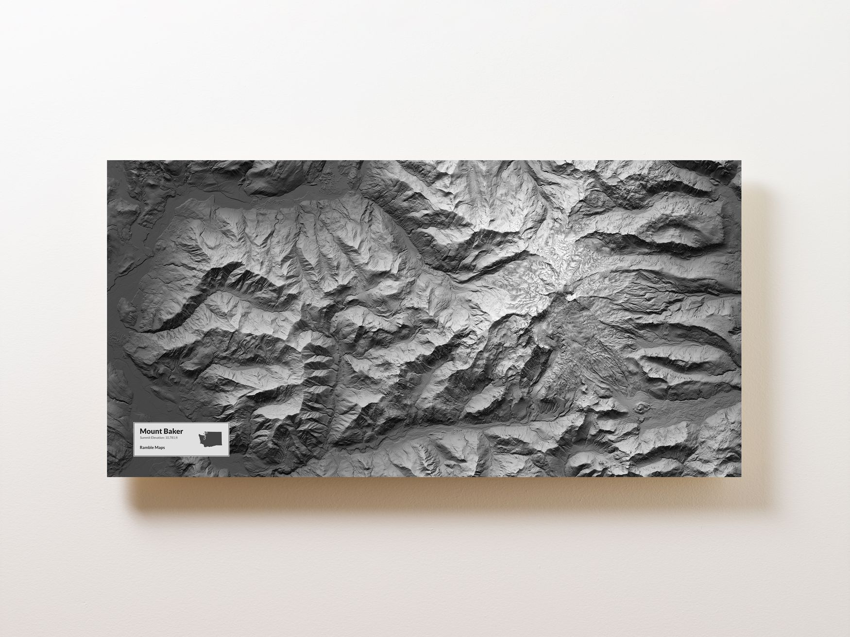 Mount Baker Wall Map