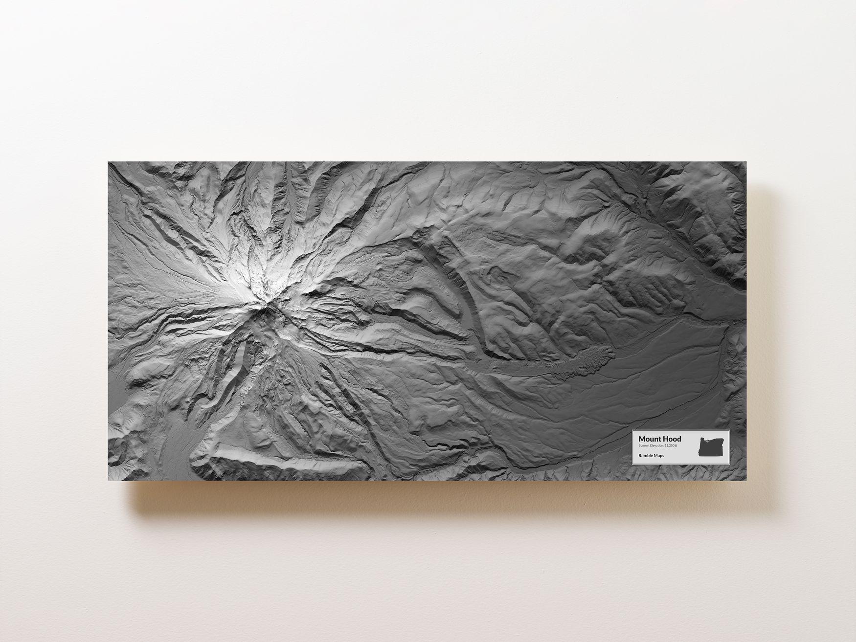 Mount Hood Wall Map