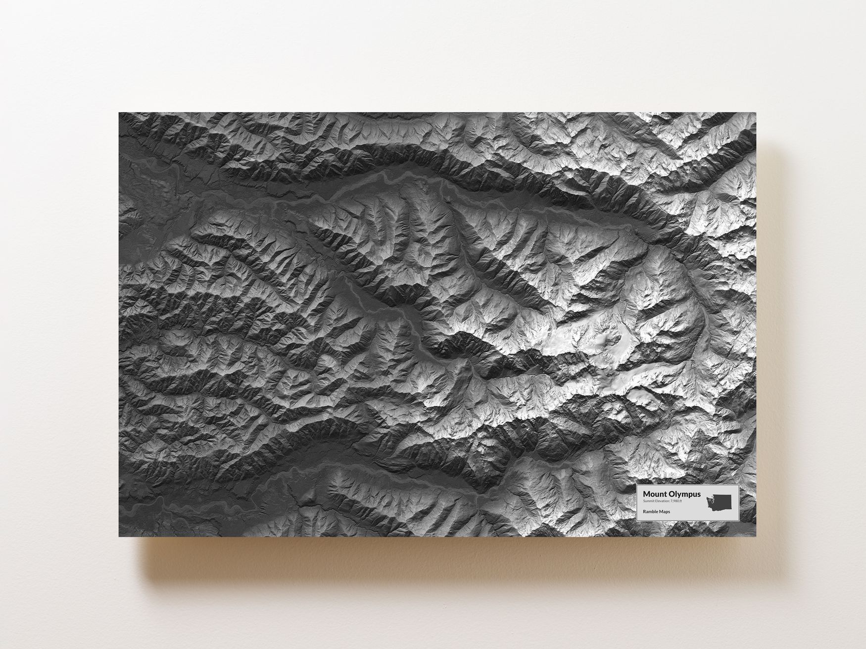 Mount Olympus Wall Map