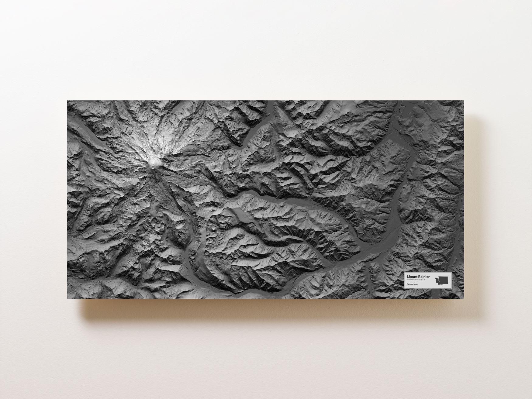 Mount Rainier Wall Map