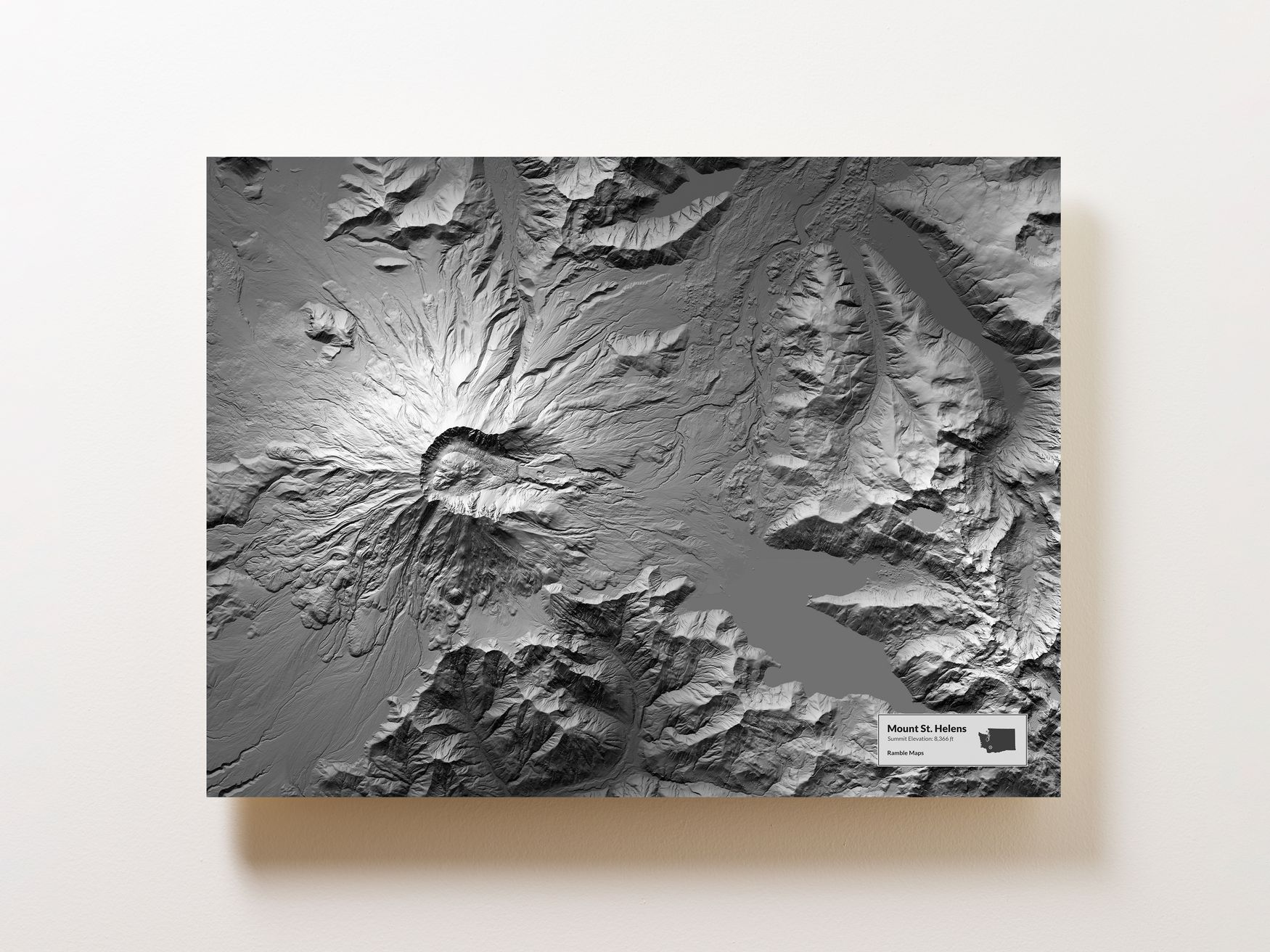 Mount St. Helens Wall Map